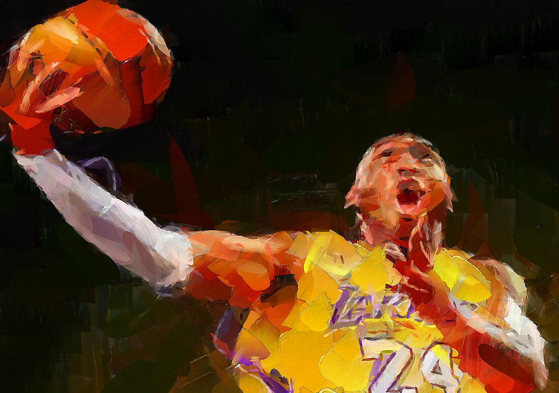 Kobe Bryant - LA Lakers - Collector Art Print on Canvas